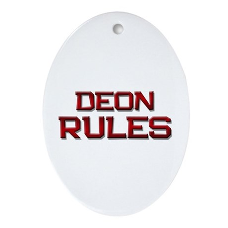 deon rules Oval Ornament
