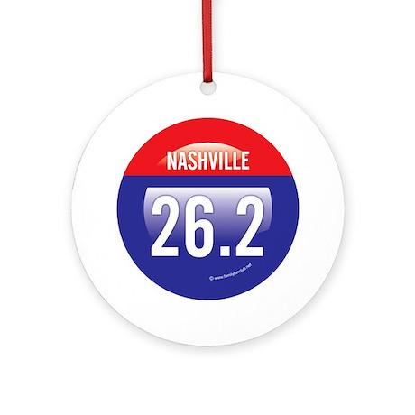 Nashville Marathon Ornament (Round)