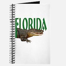 Florida Alligator Spiral Notebook Journal