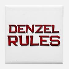 denzel rules Tile Coaster