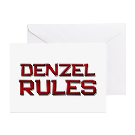 denzel rules Greeting Cards (Pk of 20)