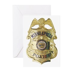 Minneapolis Police Greeting Cards (Pk of 20)