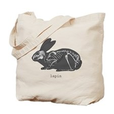 A/EASTER rabbit skeleton Tote Bag