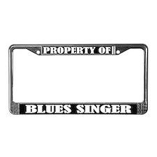 Blues Singer Music License Plate Frame
