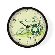 North Dakota Recycle T-Shirts and Gifts Wall Clock