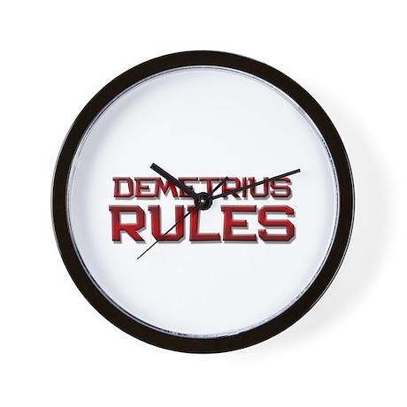 demetrius rules Wall Clock