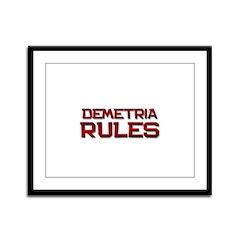 demetria rules Framed Panel Print