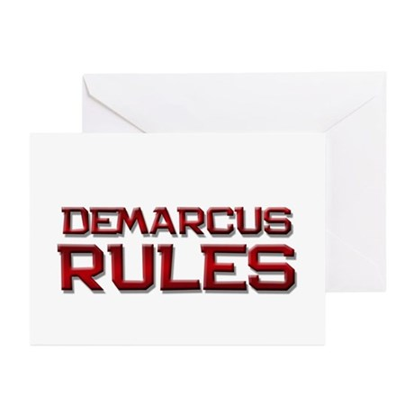 demarcus rules Greeting Cards (Pk of 20)
