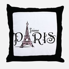 J'aime Paris Throw Pillow