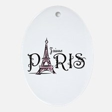 J'aime Paris Oval Ornament