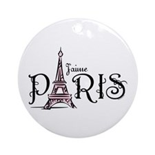 J'aime Paris Ornament (Round)