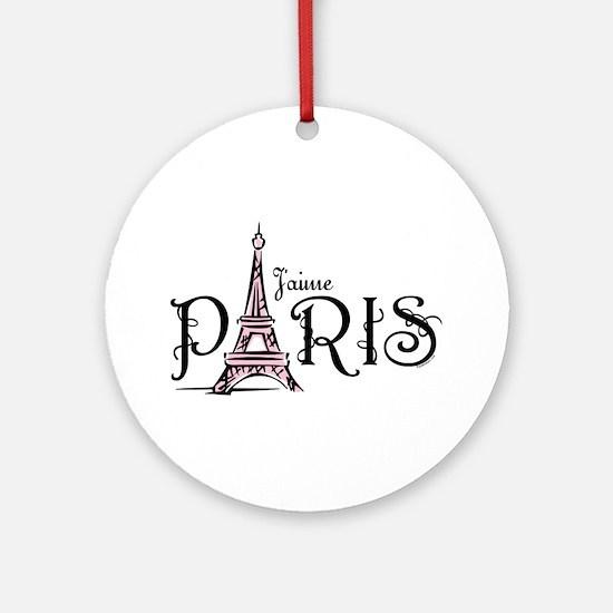 J'aime Paris Ornament (Round)