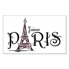J'aime Paris Rectangle Decal