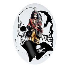 Pirate Design Ornament (Oval)