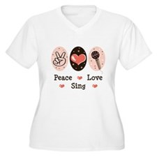 Peace Love Sing T-Shirt