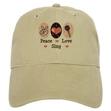 Peace Love Sing Baseball Cap