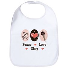 Peace Love Sing Bib
