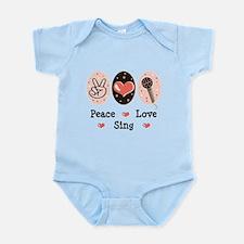Peace Love Sing Infant Bodysuit