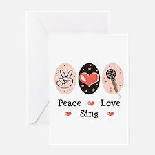 Peace Love Sing Greeting Card