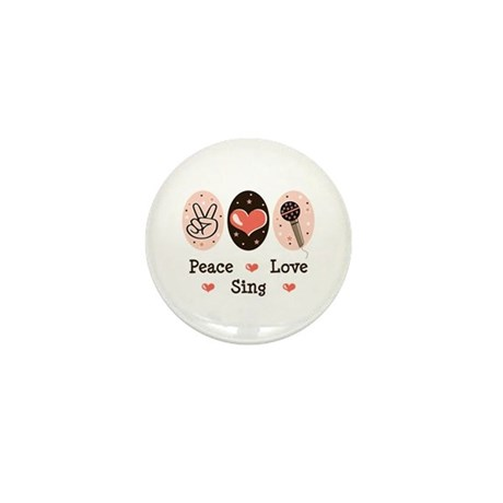 Peace Love Sing Mini Button (10 pack)
