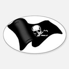 Pirates flag Oval Decal
