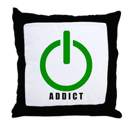 Addict Online Gamer Throw Pillow