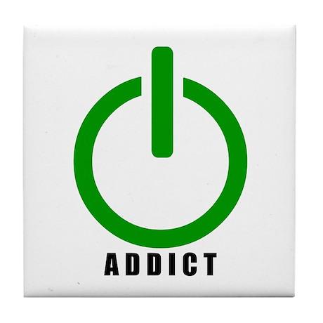 Addict Online Gamer Tile Coaster