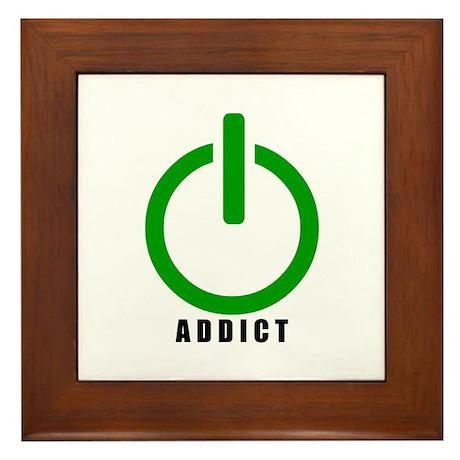 Addict Online Gamer Framed Tile