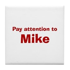 Personalized Mike Tile Coaster