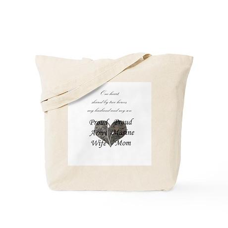 Army wife/Marine Mom Tote Bag