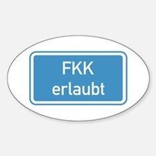 Nudism Allowed, Germany Oval Decal