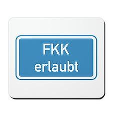 Nudism Allowed, Germany Mousepad