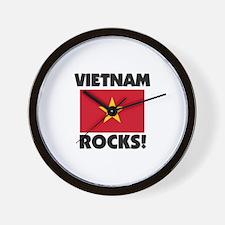 Vietnam Rocks Wall Clock