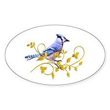 Blue Jay Oval Sticker (50 pk)