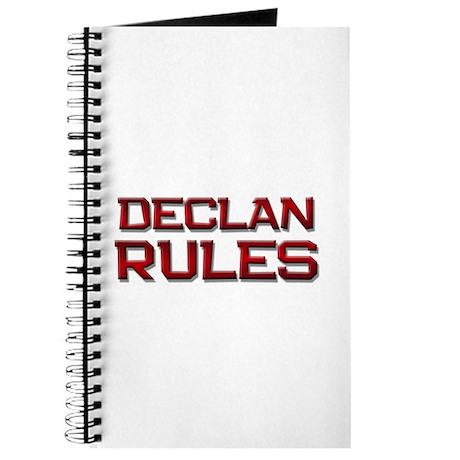 declan rules Journal