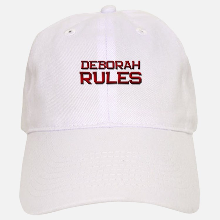 deborah rules Baseball Baseball Cap