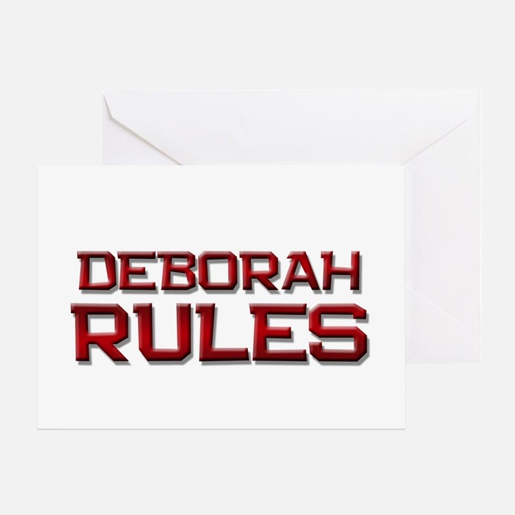 deborah rules Greeting Card