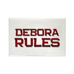 debora rules Rectangle Magnet (10 pack)