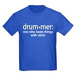 Funny Drummer Definition Kids Dark T-Shirt