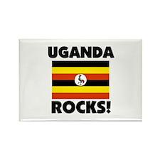 Uganda Rocks Rectangle Magnet