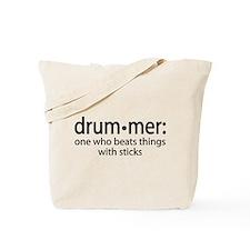 Funny Drummer Definition Tote Bag