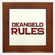 deangelo rules Framed Tile