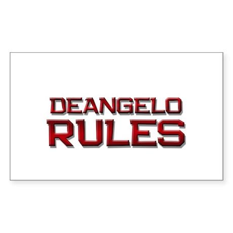 deangelo rules Rectangle Sticker