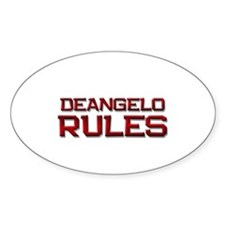 deangelo rules Oval Decal