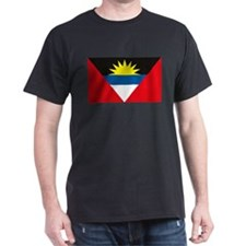 Antigua and Barbuda Flag Black T-Shirt