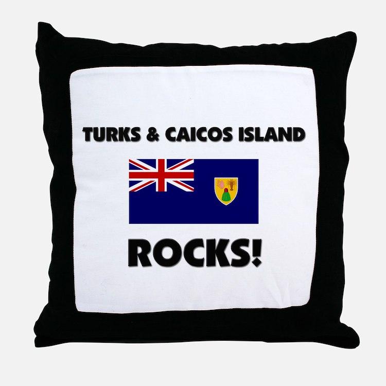 Turks & Caicos Island Rocks Throw Pillow