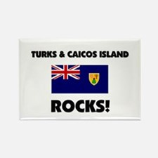 Turks & Caicos Island Rocks Rectangle Magnet