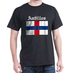 Antilles Flag Black T-Shirt