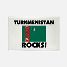 Turkmenistan Rocks Rectangle Magnet