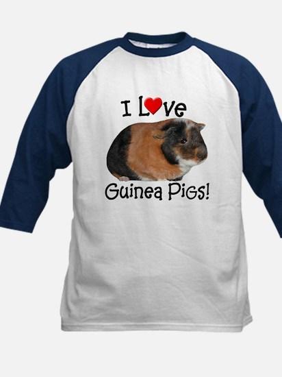 I Love Guinea Pigs #03 Kids Baseball Jersey